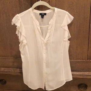 PAIGE button down sleeveless top